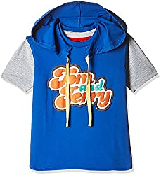 Kidsville Boys' T-Shirt (TJ1TB01_Multicolor_4 - 5 years) (Combo Pack-2)