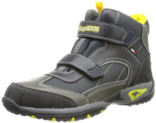KangaROOS Unisex - Child Jaden Boots Blue Blau (dark navy/dark grey/yellow) Size: 30