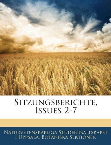 Sitzungsberichte, Issues 2-7
