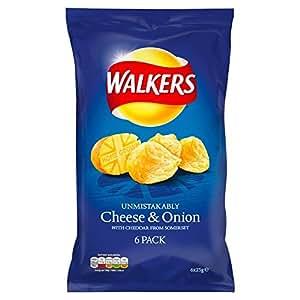 Amazon.com: Walkers Cheese & Onion Crisps 6 X 25G