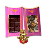 Chocholik Belgium Chocolate Gifts - Bittersweet Combo Of Chocolate Bars With Ganesha Idol - Diwali Gifts