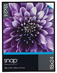 Snap U-Channel Poster Frame, 18 by 24-Inch, Black