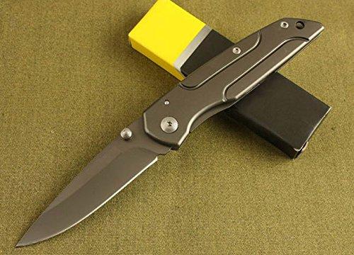 All Black Full Tang Pocket Folding Dagger Skinner Knife Da-14