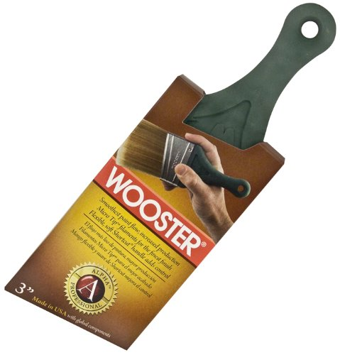 Wooster Brush 4238-3 Alpha Shortcut Angle Sash Paintbrush, 3-Inch