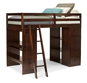Amazon Com Canwood Skyway Loft Bed With Desk And Storage