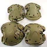 Outdoor Sports Tactical Combat Knee & Elbow Protective Pads Skate Knee Pads CP Camo
