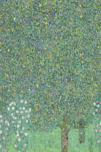 Rosebushes under  the Trees, Gustav Klimt. Blank journal: 160 blank pages, 6 x 9 inch (15.24 x 22.86 cm) Soft cover