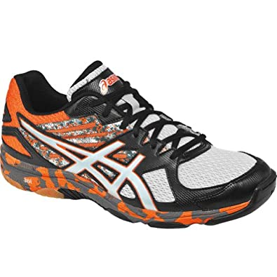 Asics Men's Gel-Flashpoint 2 Volleyball Shoe,Black/Silver/Flame,11.5 M US