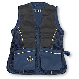 Beretta Men\'s Silver Pigeon Shooting Vest, Navy Blue/Gold, Small