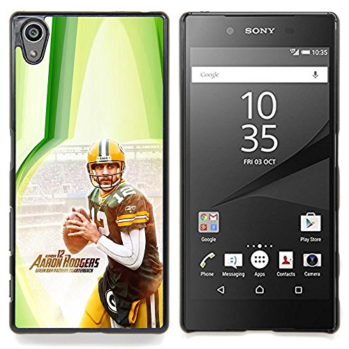 - Aaron Rodger 12 NFL - - Copertura della cassa impatto con Art Pattern Design FOR Sony Xperia Z5 5.2 Inch Smartphone Queen Pattern