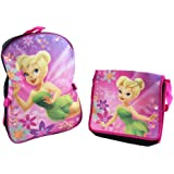 Disney Fairies Tinkerbell Black/Pink Backpack with Lunch Bag