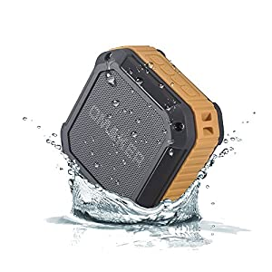 Updated Version Omaker M3 Outdoor Sport Rugged Square Design SplashProof&Shockproof Portable Bluetooth Speaker Shower speaker with NFC Tap & Play Technology (Orange)