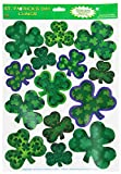 Irish-Mood Shamrock Clings Party Accessory (1 count) (14 Sh)