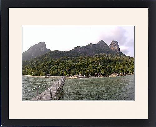 Framed Print Of Rainforest, Volcanic Twin Peaks - Bukit Batu Sirau And Bukit