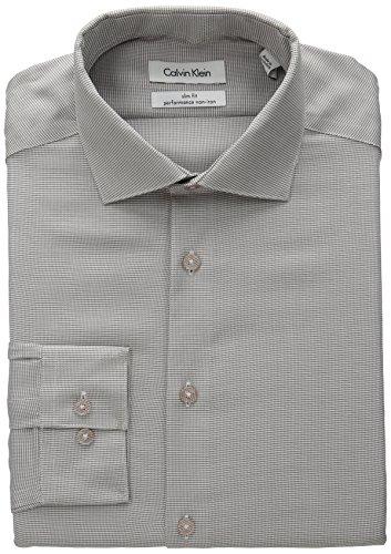 Calvin-Klein-Mens-Slim-Fit-Non-Iron-Micro-Check-Dress-Shirt-Shirt