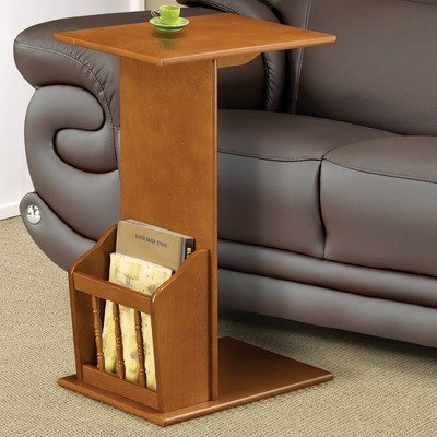 Image of Wildon Home 900290 End Table with Magazine Rack in Oak (B004JKAZOI)