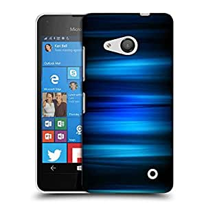 Snoogg Abstract Blue Strips Designer Protective Phone Back Case Cover For Nokia Lumia 550