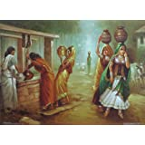 "Dolls Of India ""Fetching Water From The Village"" Reprint On Paper - Unframed (28.57 X 20.96 Centimeters)"