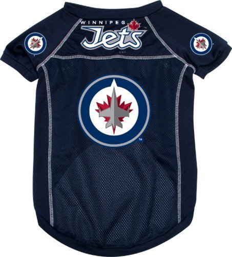 Cheap NHL Winnipeg Jets Pet Jersey with Patch, Team Color, Small