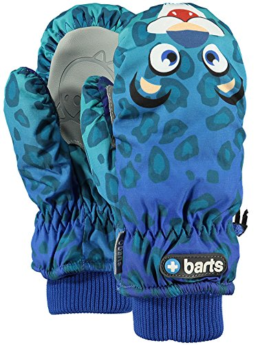 Barts Nylon Mittens Baby Mitts - Leopard Blue - 4-6 Yrs by Barts