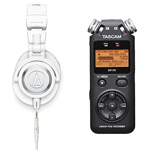 audio-technica  铁三角 ATH-M50x 耳机 + Tascam DR-05 录音笔 套装 $169(约¥1200)有喜