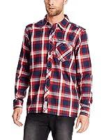 Seventy Seven Camisa Hombre Flannel Checked (Azul Marino / Rojo)