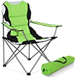 TecTake Folding Upholstered Camping Chair With Drink Holder & Bag Ø Frame: about 18 mm