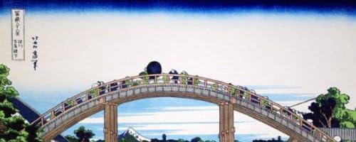 ◆葛飾北斎◆【深川万年橋下】大錦富嶽三十六景◆復刻木版◆額装済み