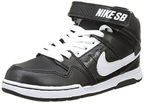 Nike Kids Mogan Mid 2 Jr B Black/white/black Skate Shoe (7 youth) (Nike Mogan Mid 2 Jr compare prices)