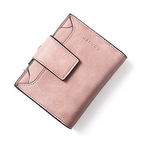 Il nuovo portafogli femmina corto del coreano retrò soft hasp femmina 0 piccolo portafoglio Wallet , due volte in polvere a base di carne