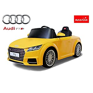 Rastar Licensed Audi TTS 12V Kids Ride on Car - Yellow - New