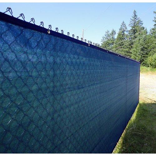 Aleko 5 x 50 feet blue fence privacy screen outdoor for Garden screening fabric