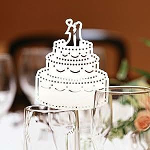 Amazon.com : Cake -Shape Design Laser Cut Escort Card Place Card for