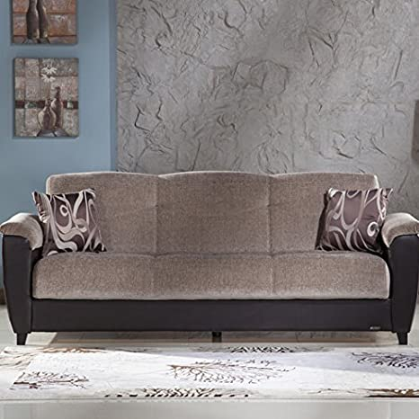 Aspen 3 Seat Convertible Sofa by Istikbal, Gray