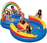 Banzai drinking water Slide:Intex  117-by-76-by-53-Inch range Ring swimming pool Play Center