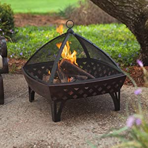 Red ember artisan crossweave 35 in fire bowl for Amazon prime fire pit