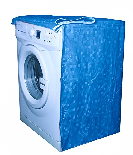 E Retailer Classic Blue Colour With Square Design Front Loading Washing Machine Cover