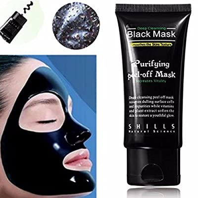 LuckyFine Blackhead Remover Cleaner Purifying Deep Cleansing Acne Black Mud Face Mask Peel-off