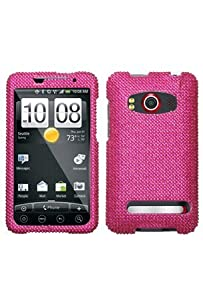 HTC Evo 4G Full Diamond Case - Hot Pink Diamante