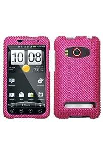HTC Evo 4G Full Diamond Case - Hot Pink Diamante