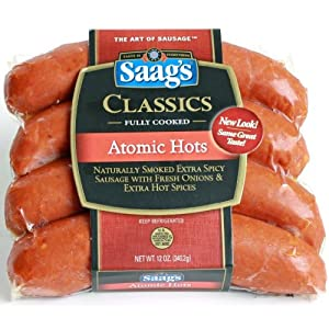 Saags Atomic Hots Hot Links Sausage 12 Oz Pkg from Saag's