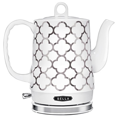 BELLA 1.2L Electric Ceramic Tea Kettle with detachable base and boil dry protection (Best Selling Tea Kettle compare prices)