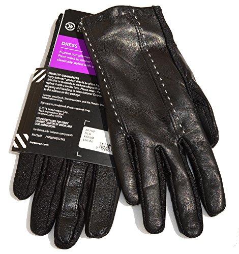 Isotoner Leather Dress Gloves (XS/SM, Black)
