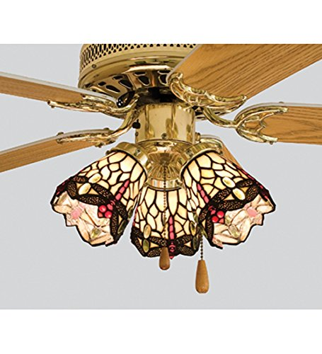 Wholesale 4 Inch W Tiffany Scarlet Dragonfly Fan Light Shade Ceiling Fixture, [Lighting, Ceiling]