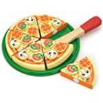 Viga Wooden Take Apart Pizza With Top...