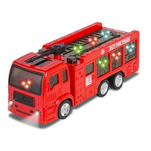 ToyZe Fire Truck for Kids : Kids Toy Fire Truck Electric Flashing Lights and Siren Sound, Bump and Go Action : Bup Bump Go Electric Flashing Lights (Toy Walmart Truck compare prices)