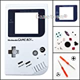 Gametown® Full Housing Shell Cover Case Pack with Screwdriver for Nintendo Gameboy Classic/Original GB DMG-01 Repair Part-White