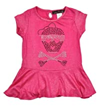 Almost Famous Girls 2-6x Peplum Top, Fuchsia, 6X/Large
