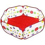 子供用ボールプール 150cm長さ 知育玩具 屋内遊具 子供の秘密基地 お誕生日/出産祝いのプレゼント おもちゃ箱 ボール付けない レッド
