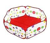 子供用ボールプール 100cm長さ 知育玩具 屋内遊具 子供の秘密基地 お誕生日/出産祝いのプレゼント おもちゃ箱 ボール付けない レッド